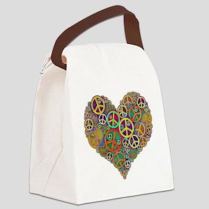 Peace Heart Light3 highpass4 Canvas Lunch Bag