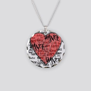 funky dance with heart best  Necklace Circle Charm