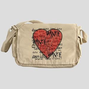 funky dance with heart best dance sh Messenger Bag