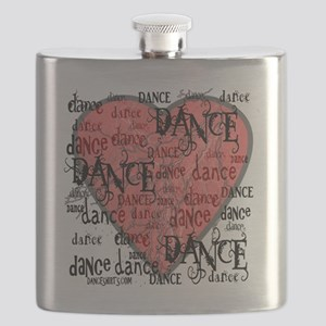 funky dance with heart best dance shirts cop Flask