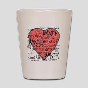 funky dance with heart best dance shirt Shot Glass