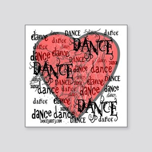 "funky dance with heart best Square Sticker 3"" x 3"""