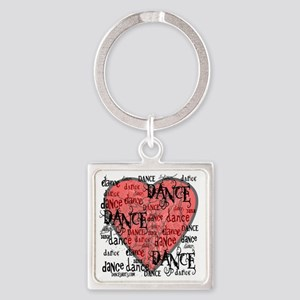 funky dance with heart best dance  Square Keychain