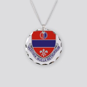 116th Field Artillery Regime Necklace Circle Charm