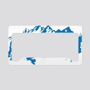 mountains0 License Plate Holder
