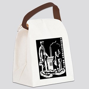Aley book inverted BW Canvas Lunch Bag