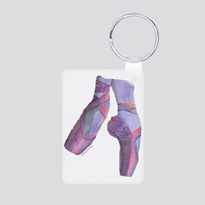 pointe_ballet_slippers_pin Aluminum Photo Keychain