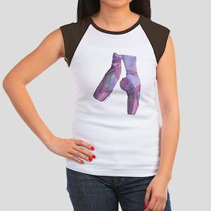 pointe_ballet_slippers_ Women's Cap Sleeve T-Shirt