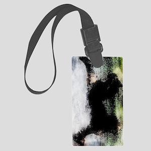 DinoGrunge_Grunge_5_iPhoneCase Large Luggage Tag