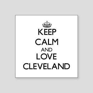 Keep Calm and Love Cleveland Sticker