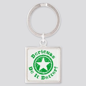 Boricuas Do It Better Grunge - Gre Square Keychain