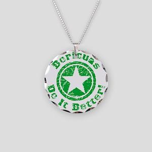 Boricuas Do It Better Grunge Necklace Circle Charm