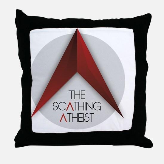 Scathing Atheist Logo Throw Pillow