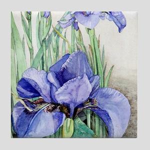 Purple Iris Tile Coaster