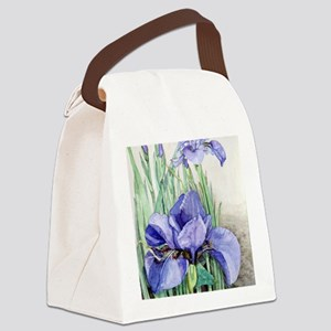 Purple Iris Canvas Lunch Bag