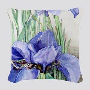 Purple Iris Woven Throw Pillow