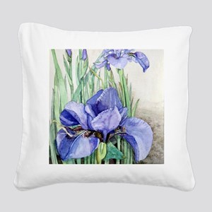 Purple Iris Square Canvas Pillow