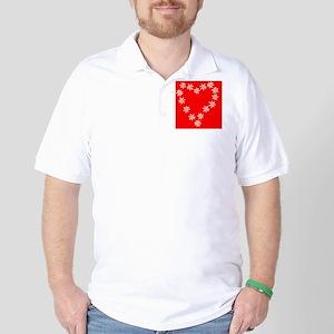 cell case  heart valentines flowers  Golf Shirt
