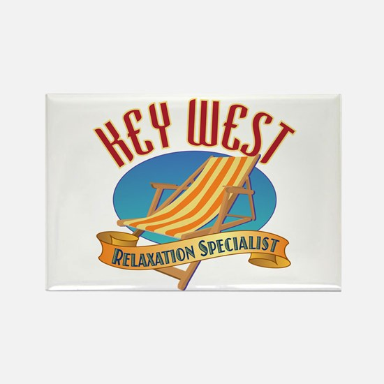Key West Relax - Rectangle Magnet