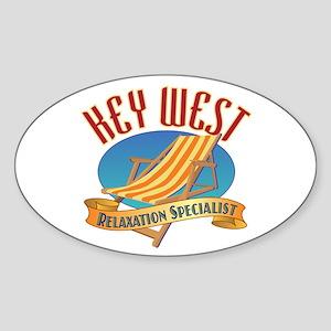 Key West Relax - Sticker (Oval)