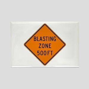 Blasting Zone 500 FT - USA Rectangle Magnet