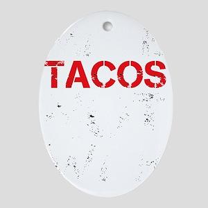 dark tacos Oval Ornament
