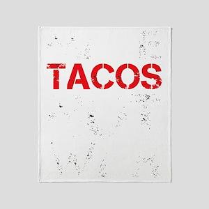 dark tacos Throw Blanket