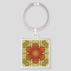 Metatron-Star-Mandala-Poster Square Keychain