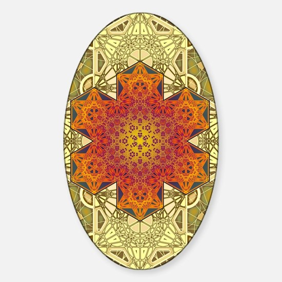 Metatron-Star-Mandala-Poster Sticker (Oval)