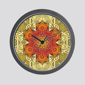 Metatron-Star-Mandala-Poster Wall Clock