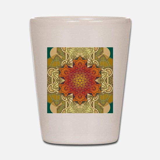 Metatron-Star-Mandala-Poster Shot Glass
