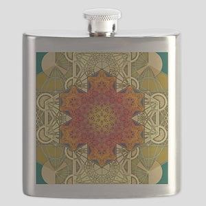 Metatron-Star-Mandala-Poster Flask