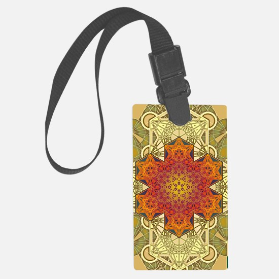 Metatron-Star-Mandala-Poster Luggage Tag