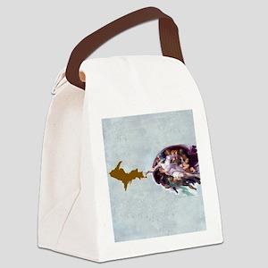 God_Giving_Life_To_Da_U.P_002 Canvas Lunch Bag