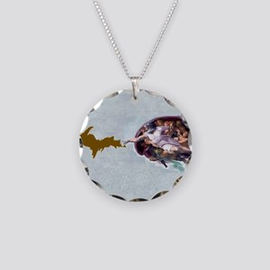 God_Giving_Life_To_Da_U.P_00 Necklace Circle Charm