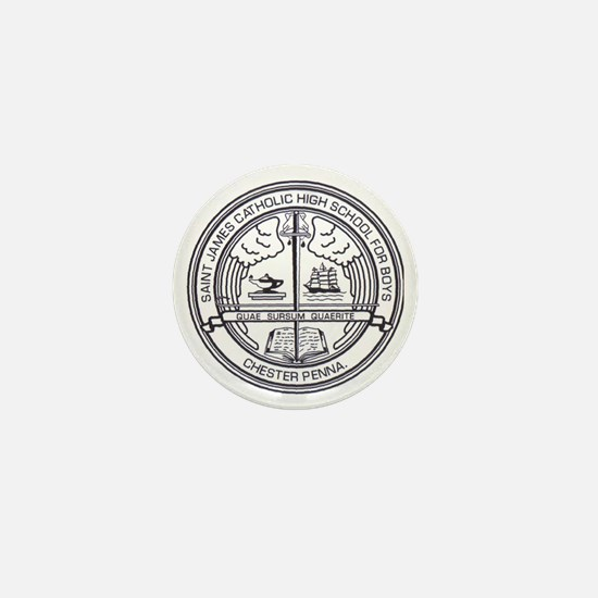 St  James School Seal Mini Button