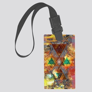 Metatron-Colorscape-Mandala-Post Large Luggage Tag