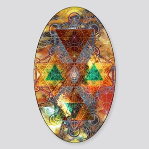 Metatron-Colorscape-Mandala-Poster Sticker (Oval)