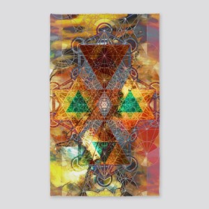 Metatron-Colorscape-Mandala-Poster 3'x5' Area Rug