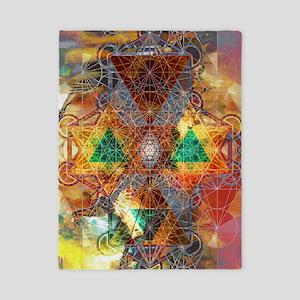 Metatron-Colorscape-Mandala-Poster Twin Duvet