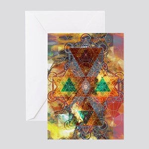 Metatron-Colorscape-Mandala-Poster Greeting Card