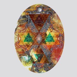 Metatron-Colorscape-Mandala-Poster Oval Ornament