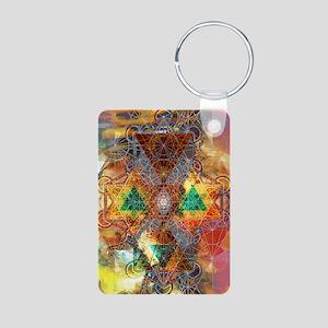 Metatron-Colorscape-Mandal Aluminum Photo Keychain