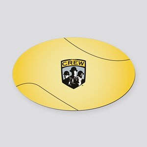 Columbus Crew Background Oval Car Magnet