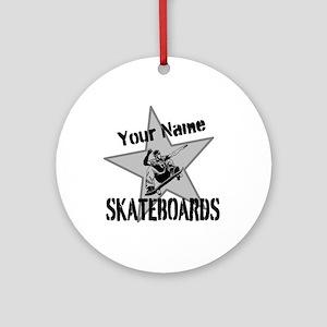 Custom Skateboards Round Ornament