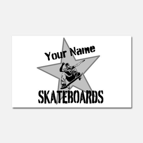 Custom Skateboards Car Magnet 20 x 12