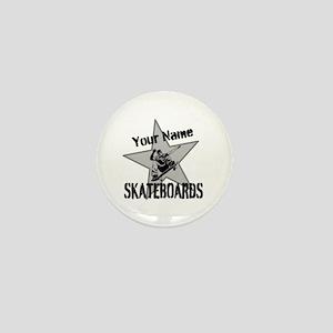 Custom Skateboards Mini Button