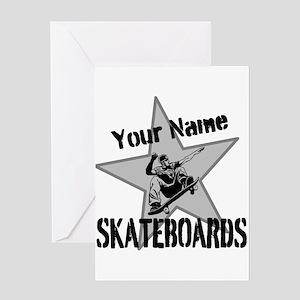 Custom Skateboards Greeting Cards