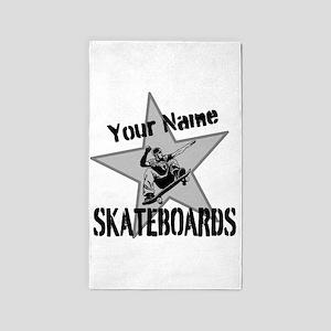 Custom Skateboards Area Rug