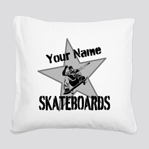 Custom Skateboards Square Canvas Pillow